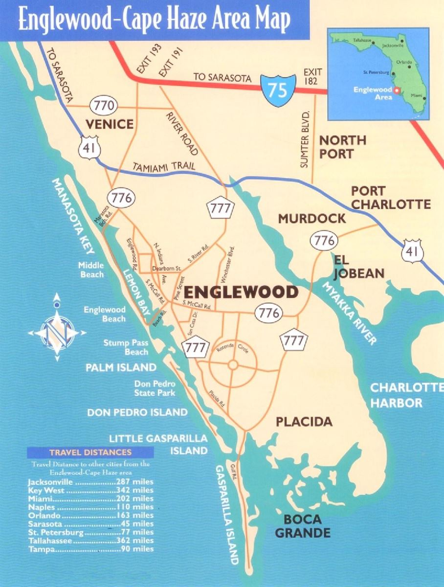 cape haze Florida area map